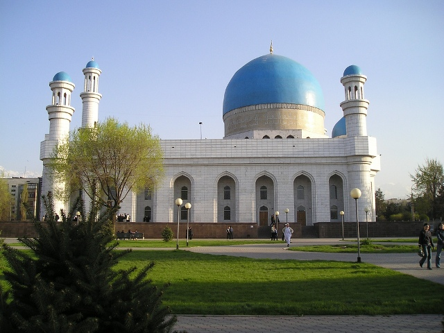 central mosque, almaty, kazakhstan