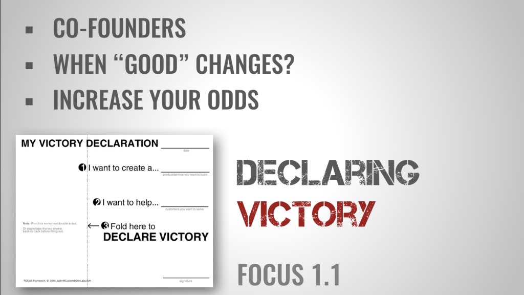 declaring victory worksheet