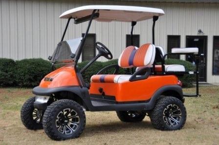 clemson tigers club car precedent lifted custom golf carts columbia sales service parts. Black Bedroom Furniture Sets. Home Design Ideas