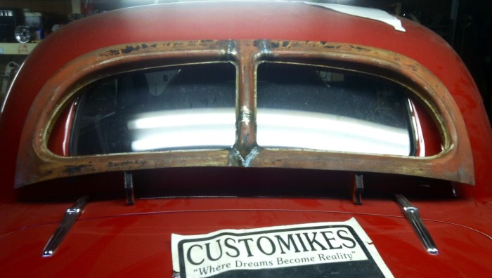 38 Hupmobile split window kustomization for David Wilson's 40 Chevy