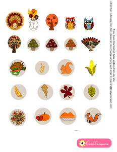 free printable stickers for Thanksgiving