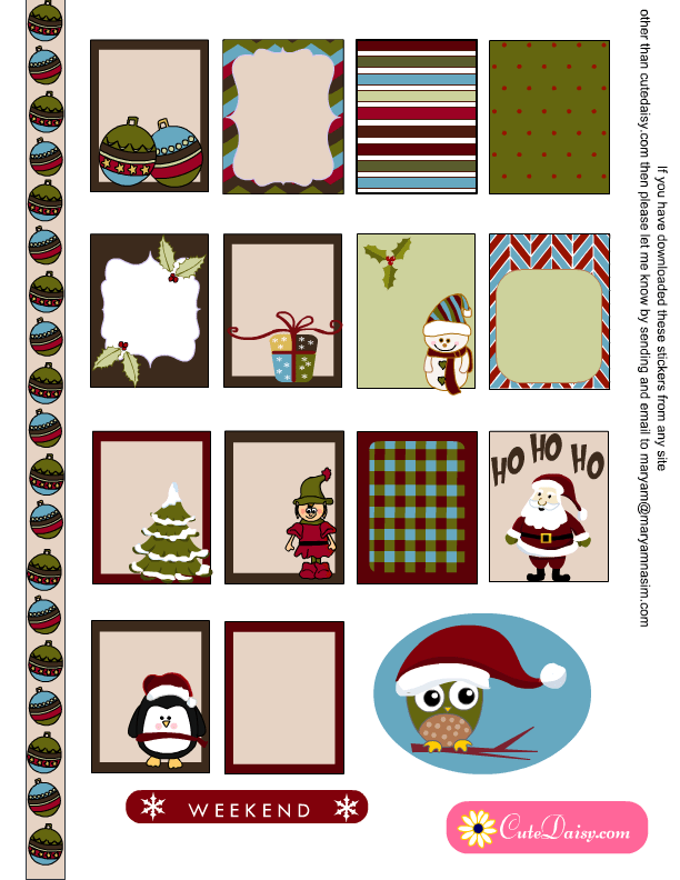 This is a picture of Astounding Free Printable Christmas Stickers