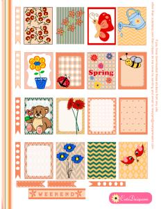 Spring Stickers for Erin Condren Life Planner (ECLP)