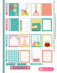 Free Printable Crafts themed Stickers for ECLP