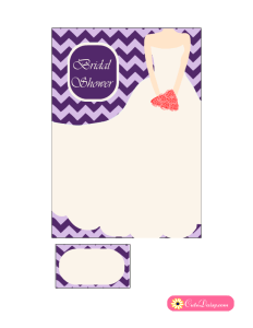 Bridal Shower Invitation in Lilac and Purple Color