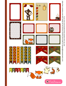 Free Printable Fall Stickers for Happy Planner set 2