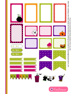 Free Printable Halloween Planner Stickers for Happy Planner Page 2
