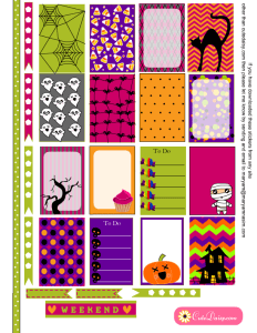 Free Printable Halloween Planner Stickers for Happy Planner