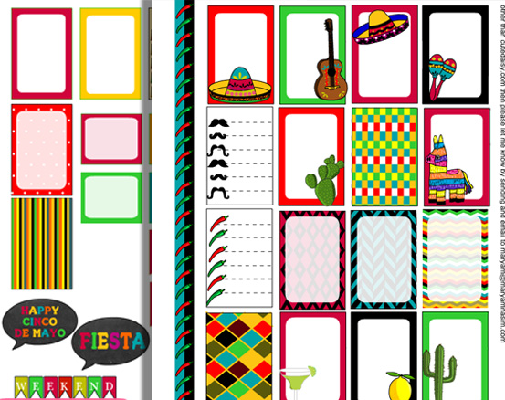 Free Printable Mexican Stickers for Classic Happy Planner
