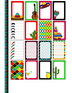Free printable Mexican stickers for Happy Planner