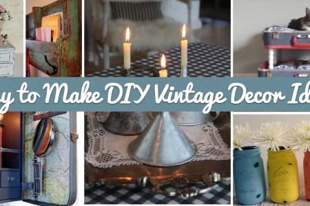 25 easy to make diy vintage decor ideas cover