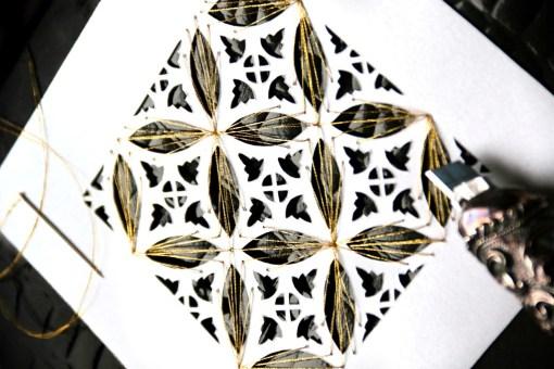 Cutteristic - Batik Kawung Emas Papercut and Sew 6