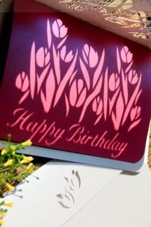 Cutteristic - Kartu Ulang Tahun Tulip Pink 7