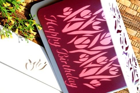 Cutteristic - Kartu Ulang Tahun Tulip Pink 8