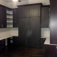 Custom Murphy Bed in Home Office