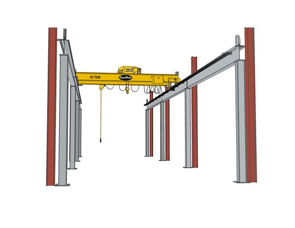 Overhead Crane Beam Design : Runway crane works overhead travelling cranes
