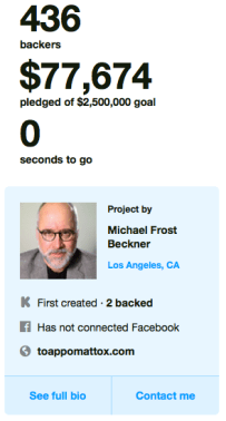 """To Appomattox"" Kickstarter"