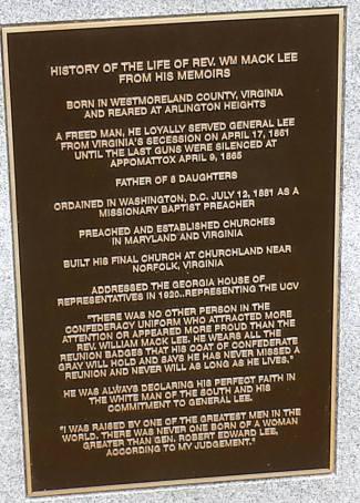 William Mack Lee Headstone