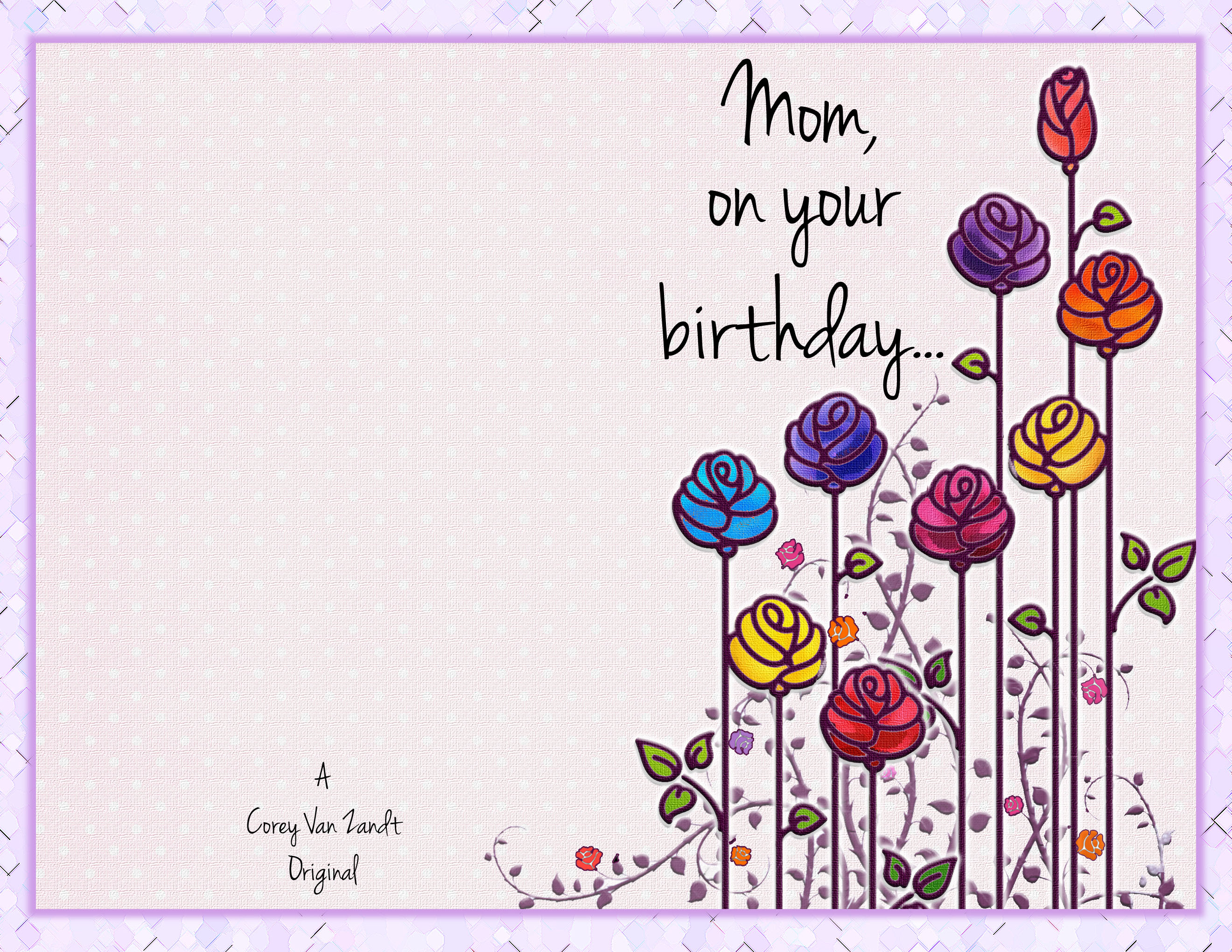 Tremendous Mom Card Front Happy Birthday Card Corey Van Zandt Birthday Card Template Black Office Microsoften Ustemplateshappy Birthday Card Tc010169560px cards Birthday Card Template