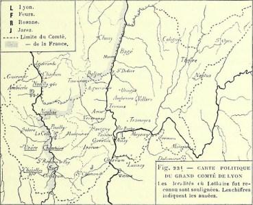Vieille carte du duché de Lyon...