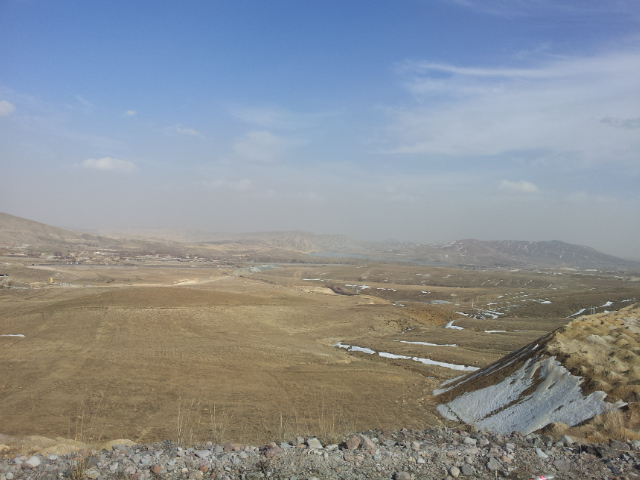 The view from my first lunch stop on the road in Iran