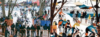 Cyclocross Christmas Cards by Eliza Southwood