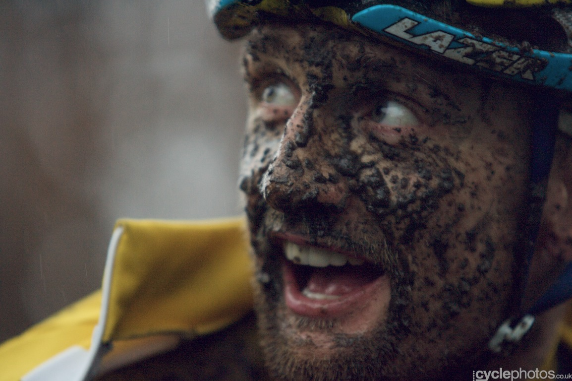 Bart Wellens after finishing the fifth round of the Bpost Bank Trofee Azencross in Loenhout.