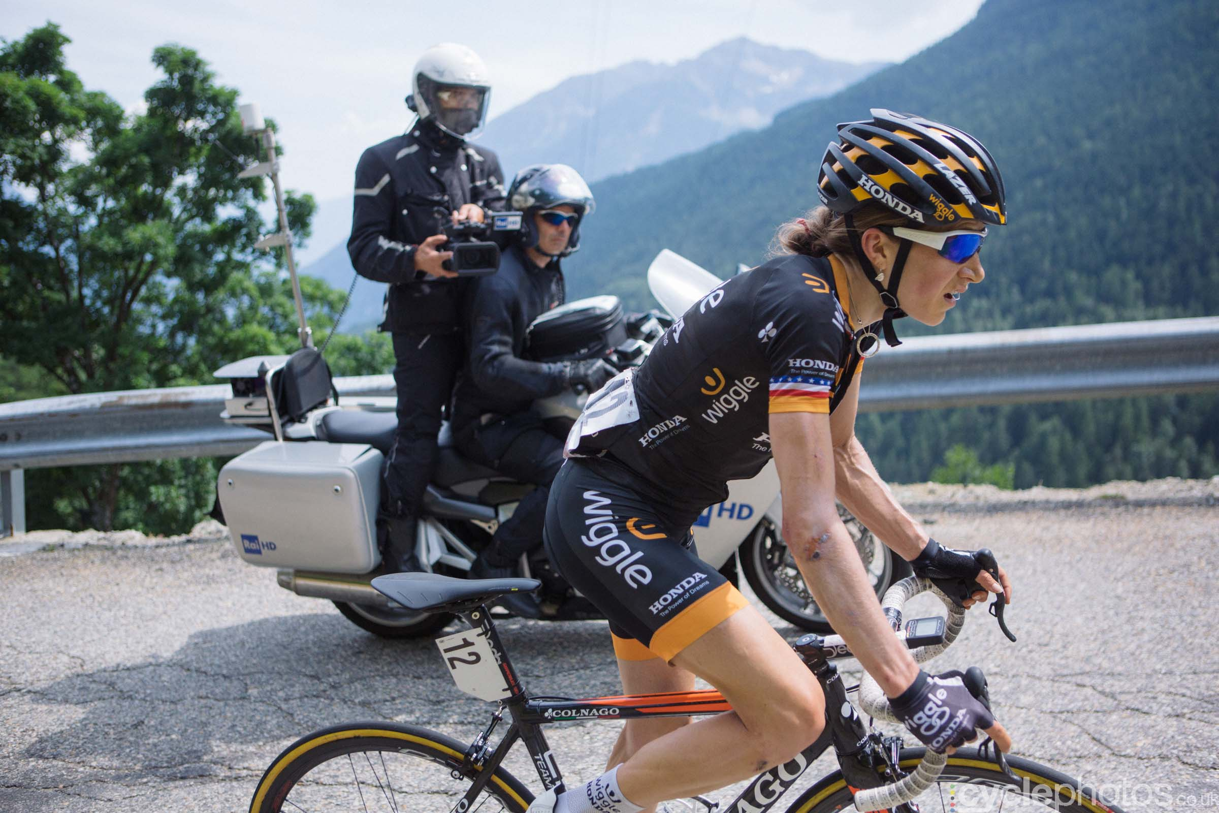 Mara Abbott during the 9th stage of the 2015 Giro Rosa