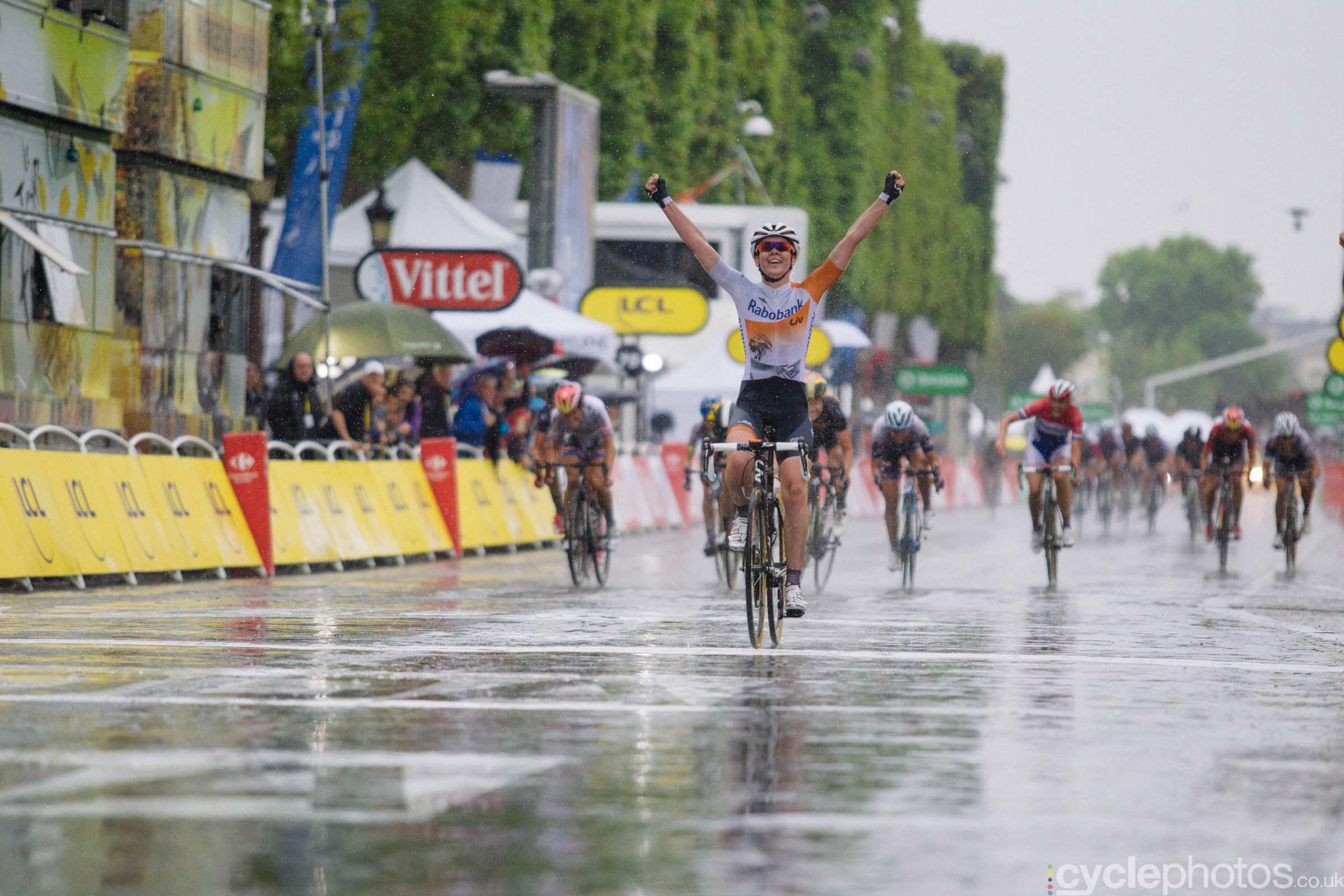 Anna van der Breggen wins the 2015 edition of the La Course by Le Tour women's road cycling race.