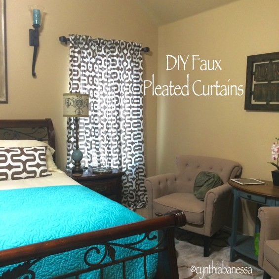 DIY faux pleated curtains