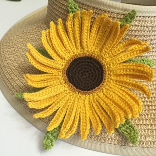 Crochet Sunflower Brooch Pattern