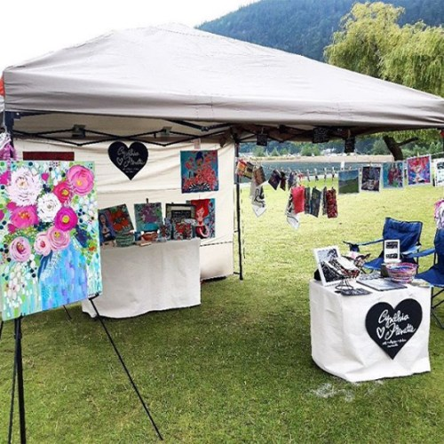 Our first outdoor art market!