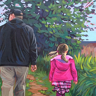 New commission piece, Springtime Walk