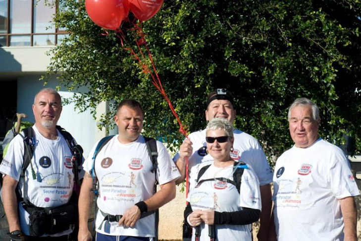 Four fundraisers walk Cyprus in a 20-day round trip