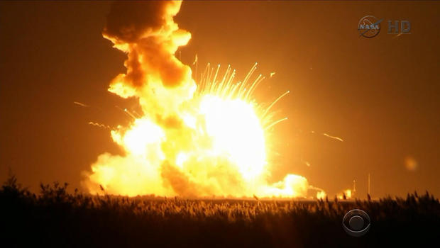 US rocket explosion probed; space station resupplied