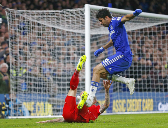 Chelsea's Costa charged over alleged semi-final stamp