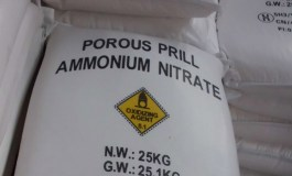 Nearly two tonnes of potential explosives seized