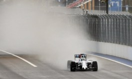 Rain and diesel spillage hit Russian practice