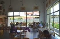 Indoor cafeteria area