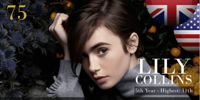 リリー・コリンズ 世界で最も美しい顔100人