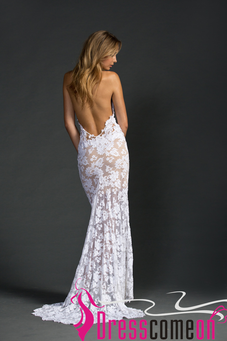 beach backless wedding dress sexy mermaid lace white open backs summer weddi dresses for summer wedding Beach Backless Wedding Dress Sexy Mermaid Lace White Open Backs Summer Wedding Dresses Thumbnail