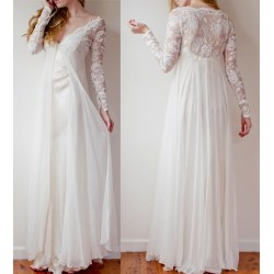 Small Crop Of Flowy Wedding Dress