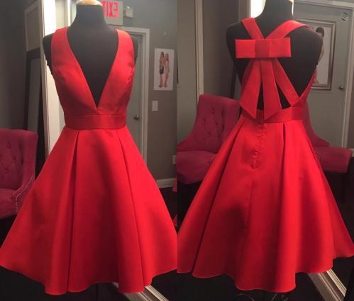 Medium Of Short Red Dress