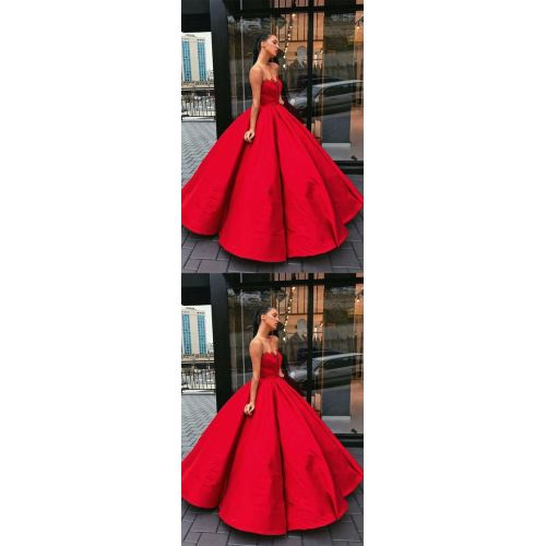 Medium Crop Of Red Prom Dress