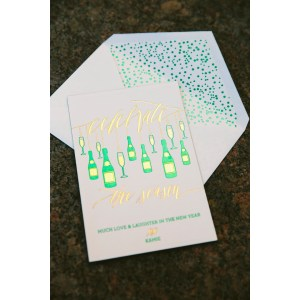 Seemly Foil Stamped New Cards From Smock New Cards New Year Cards Design New Years Cards 2075