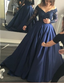 Howling Size Prom Dresses Online Plus Size Navy Blue Font B Prom B Font Font B Dresses B Font Font B Navy Blue Lace Ball Sleeve Prom Made Evening Size Prom Dresses Nordstrom