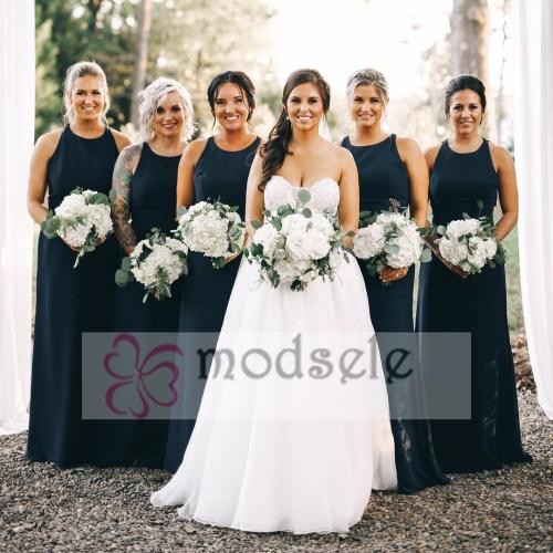 Medium Of Navy Blue Bridesmaid Dresses