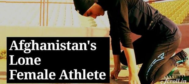 Video: Afghanistan's only woman athlete at the Olympics is running alone but fighting for all women