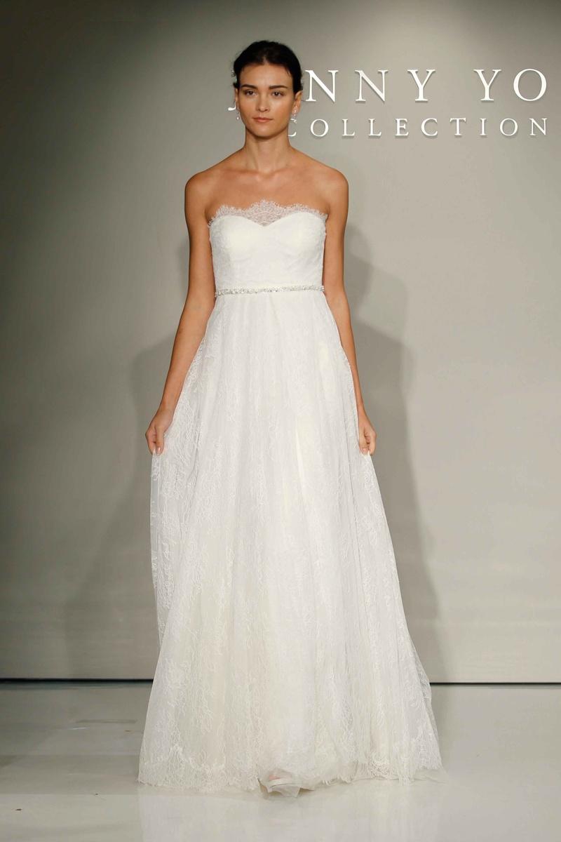 tulle wedding dress Jenny Yoo Bridal Chantilly lace and tulle wedding dress