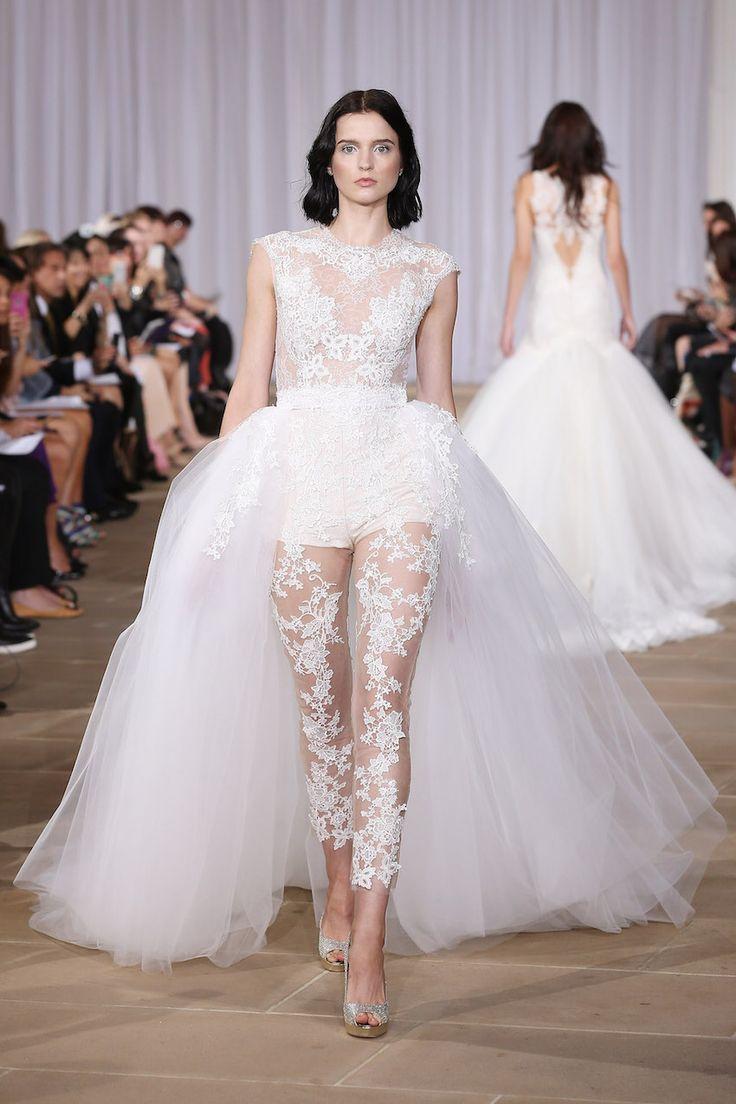 wedding dress skirt Ines Di Santo wedding dress with bodysuit and detachable skirt